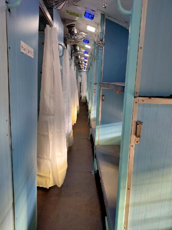 In India, train wagons have been turned into a hospital